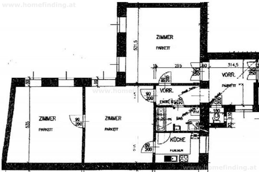 3-Zimmer Altbauwohnung in der Innenstadt