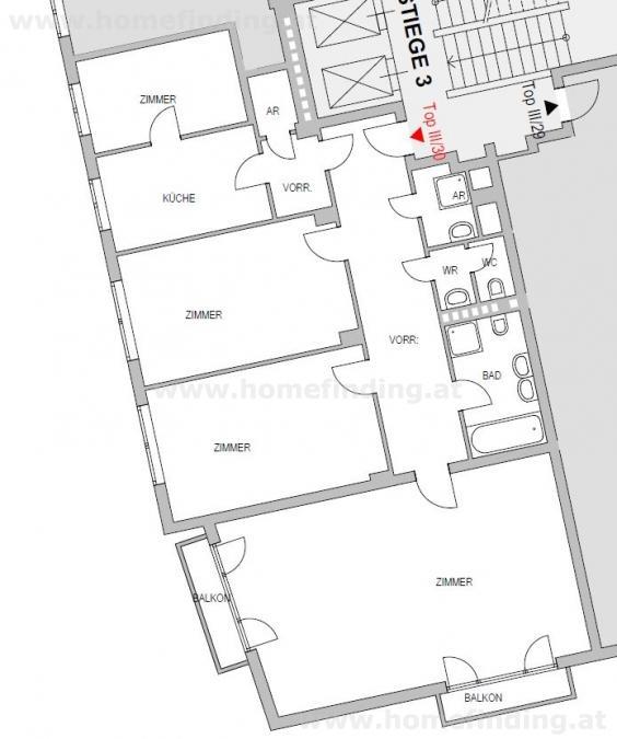 Bayerngasse:  4-Zimmerwohnung mit 2 Balkonen /  / 1030Wien / Bild 0